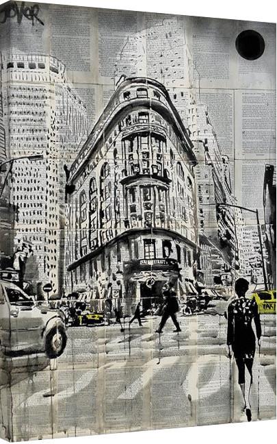 Canvastavla  Loui Jover - Midtown Walk