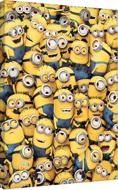 Canvastavla Minions (Despicable Me) - Many Minions
