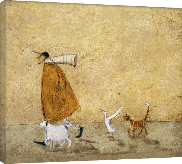Canvastavla  Sam Toft - Ernest, Doris, Horace And Stripes