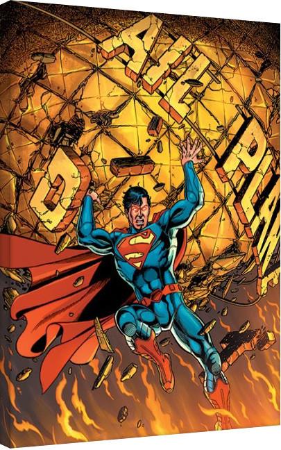 Bilden på canvas Stålmannen - Daily Planet