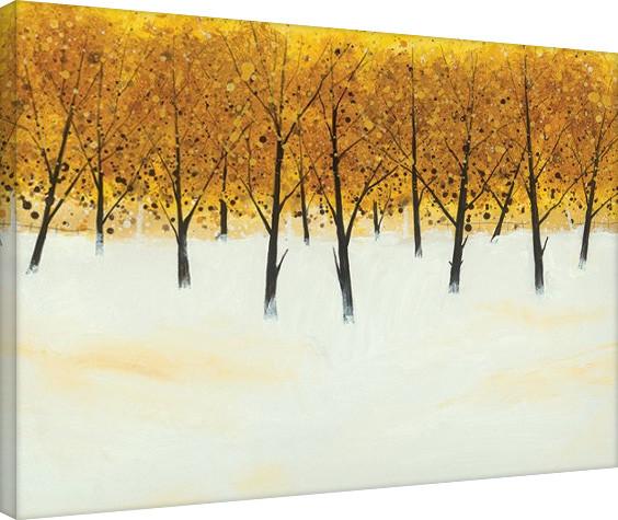 Bilden på canvas Stuart Roy - Yellow Trees on White