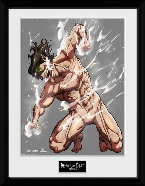 Attack On Titan Karte.Attack On Titan Season 2 Eren Titan Gerahmte Poster