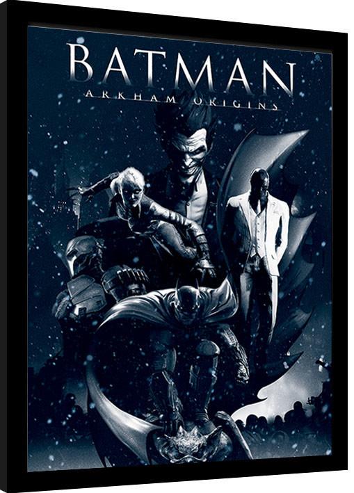 Batman Arkham Origins Montage Gerahmte Poster Bilder Kaufen Bei Europosters