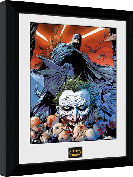batman comic joker defeated gerahmte poster bilder kaufen bei europosters. Black Bedroom Furniture Sets. Home Design Ideas