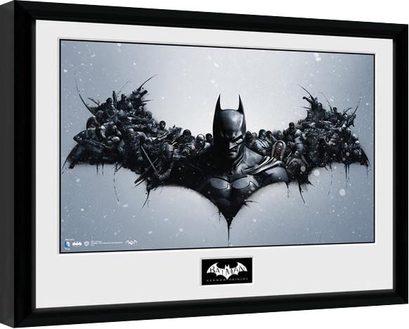 batman comic origins gerahmte poster bilder kaufen. Black Bedroom Furniture Sets. Home Design Ideas