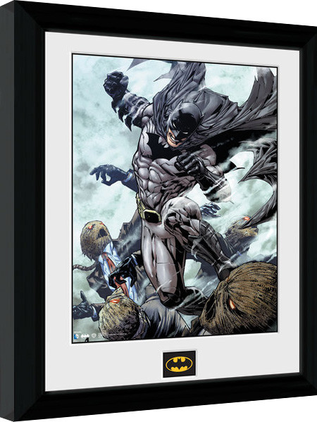 batman comic scarecrow gerahmte poster bilder kaufen. Black Bedroom Furniture Sets. Home Design Ideas