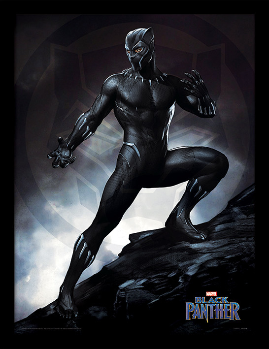 black panther stance gerahmte poster bilder kaufen bei europosters. Black Bedroom Furniture Sets. Home Design Ideas