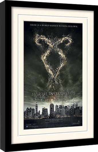 CHRONIKEN DER UNTERWELT – CITY OF BONES – rune  gerahmte Poster