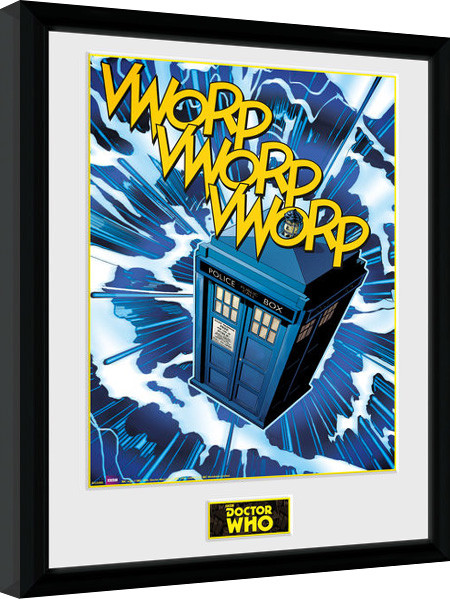 doctor who tardis comic gerahmte poster bilder kaufen bei europosters. Black Bedroom Furniture Sets. Home Design Ideas