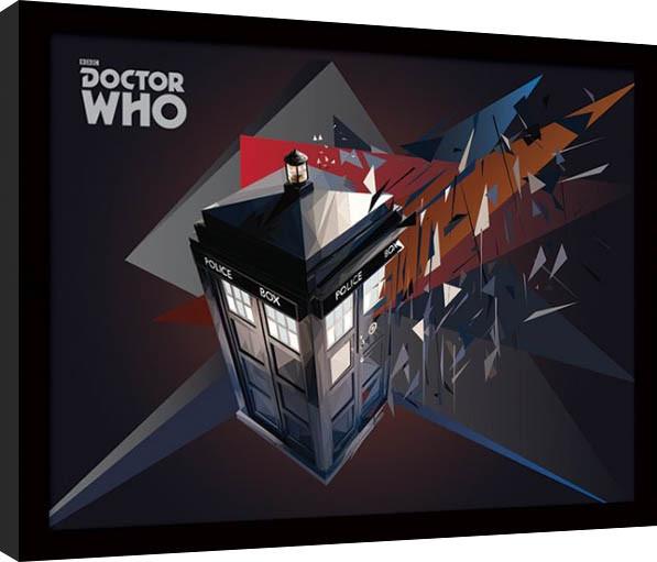 Doctor Who - Tardis Geometric gerahmte Poster