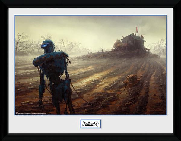 Fallout 4 - Farming Robot gerahmte Poster
