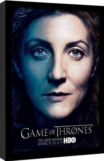 GAME OF THRONES 3 - catelyn gerahmte Poster