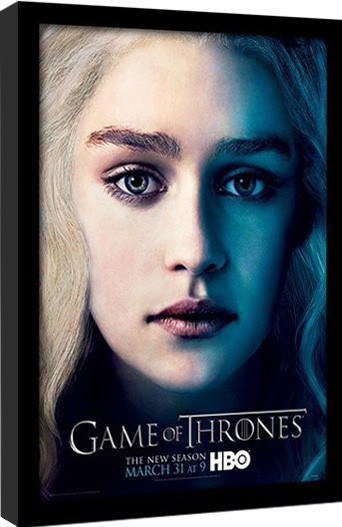 GAME OF THRONES 3 - daenery gerahmte Poster