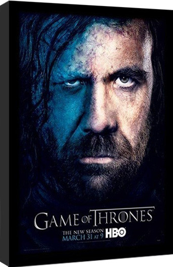 GAME OF THRONES 3 - sandor gerahmte Poster