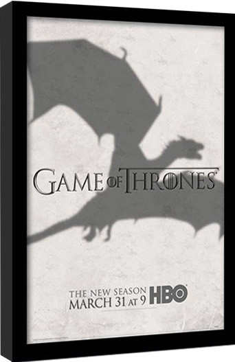 GAME OF THRONES 3 - shadow gerahmte Poster
