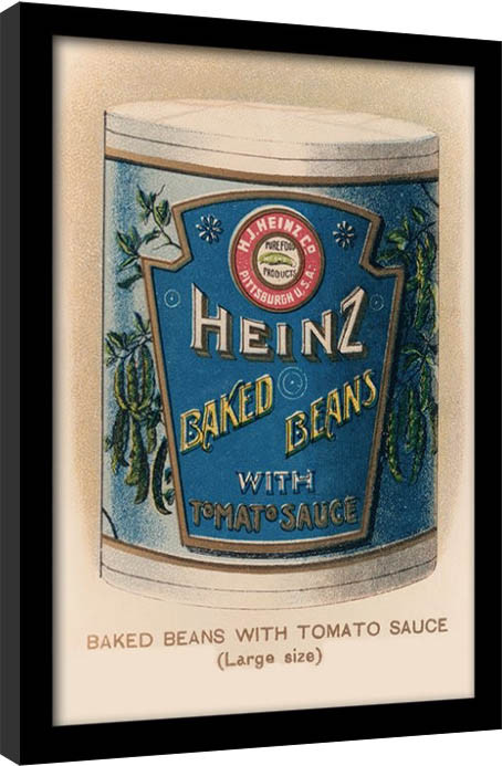 Heinz - Vintage Beans Can gerahmte Poster