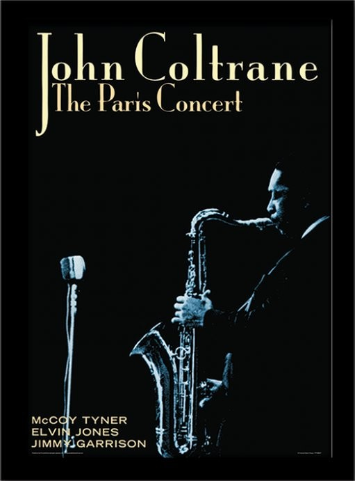 john coltrane paris concert gerahmte poster bilder kaufen bei europosters. Black Bedroom Furniture Sets. Home Design Ideas