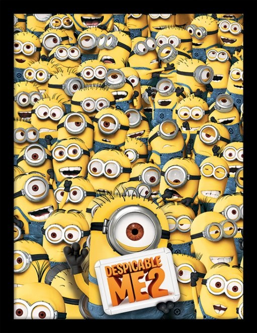 Minions (Despicable Me) - Many Minions gerahmte Poster