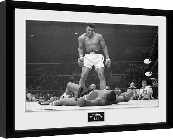 muhammad ali liston gerahmte poster bilder kaufen bei europosters. Black Bedroom Furniture Sets. Home Design Ideas