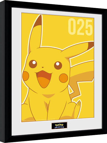 pokemon pikachu mono gerahmte poster bilder kaufen bei europosters. Black Bedroom Furniture Sets. Home Design Ideas