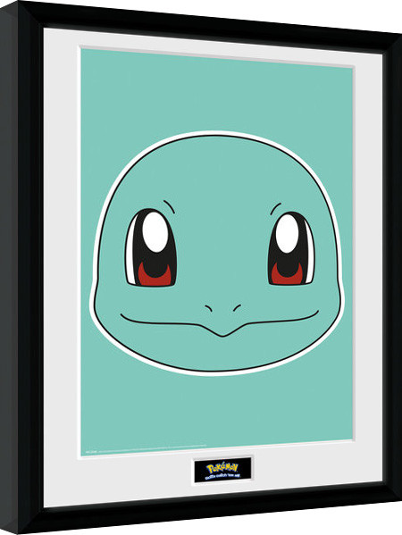 pokemon squirtle face gerahmte poster bilder kaufen. Black Bedroom Furniture Sets. Home Design Ideas