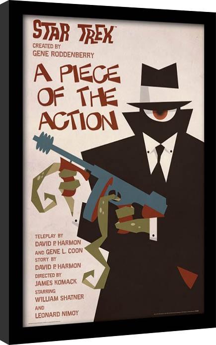Raumschiff Enterprise - A Piece Of The Action gerahmte Poster