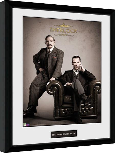 sherlock victorian gerahmte poster bilder kaufen bei europosters. Black Bedroom Furniture Sets. Home Design Ideas