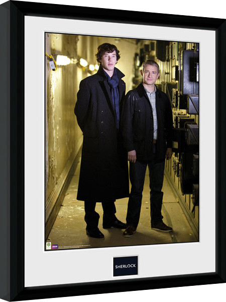 sherlock watson portrait gerahmte poster bilder kaufen bei europosters. Black Bedroom Furniture Sets. Home Design Ideas