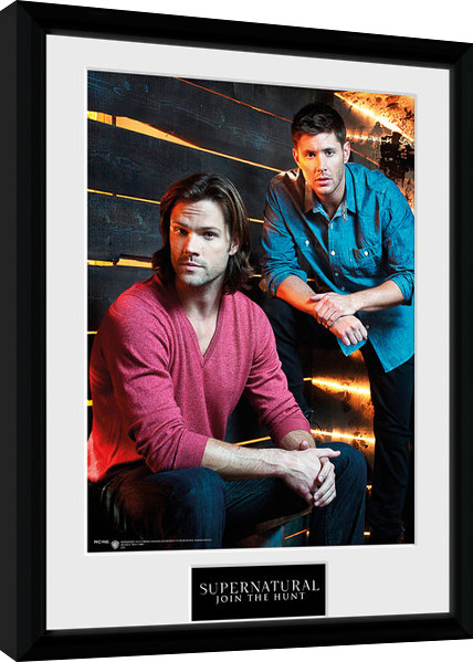 supernatural sam and dean gerahmte poster bilder. Black Bedroom Furniture Sets. Home Design Ideas