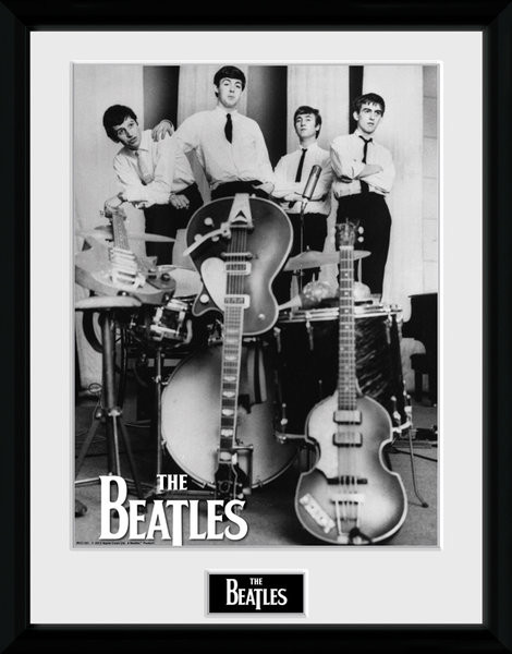 the beatles instruments gerahmte poster bilder kaufen bei europosters. Black Bedroom Furniture Sets. Home Design Ideas