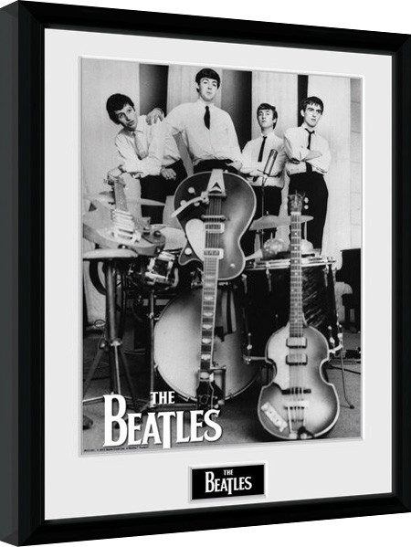 the beatles instruments gerahmte poster bilder kaufen bei europosters. Black Bedroom Furniture Sets. Home Design Ideas