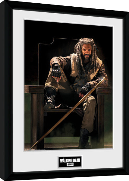 the walking dead ezekial gerahmte poster bilder. Black Bedroom Furniture Sets. Home Design Ideas