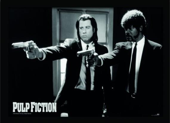 Gerahmte Poster PULP FICTION - guns