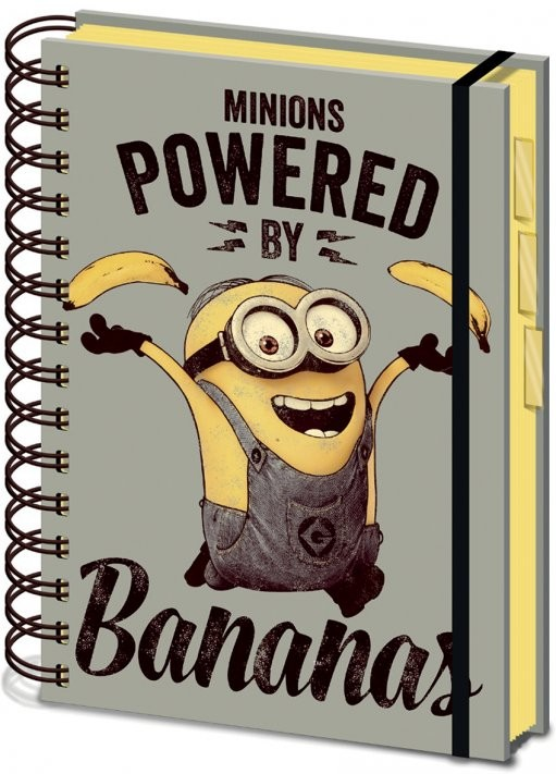 Minions (Despicable Me) - Powered by Bananas A5 Bilježnica