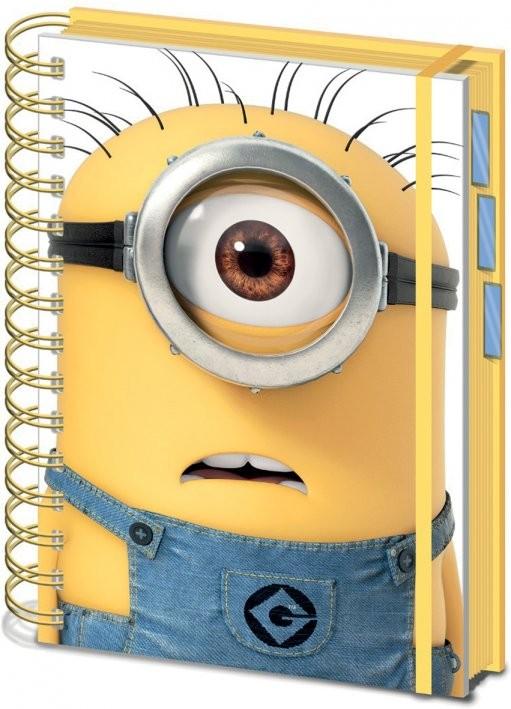 Minions (Despicable Me) - Shocked Minion A5 Bilježnica