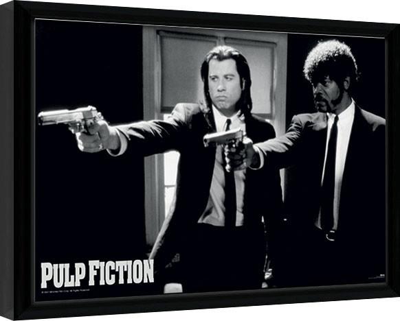 Indrammet plakat PULP FICTION - guns
