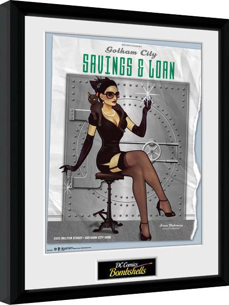 Dc Comics Catwoman Bombshells Indrammet Plakat Billede På Europostersdk