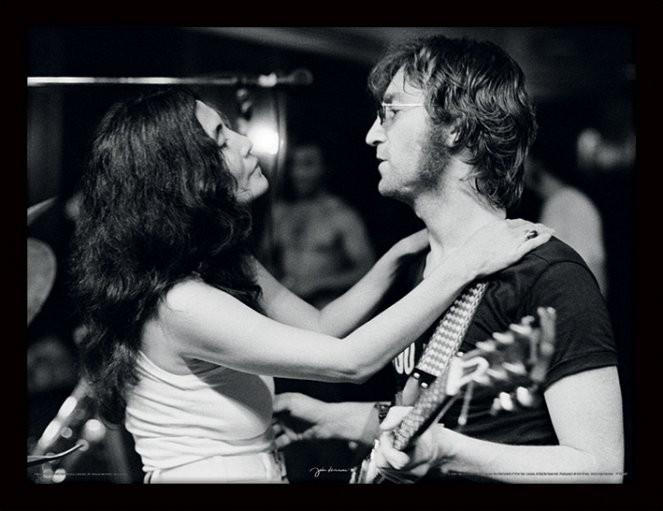 JOHN LENNON - John & Yoko / Bob Gruen indrammet plakat
