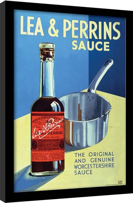 Lea & Perrins - The Original Worcester Sauce indrammet plakat