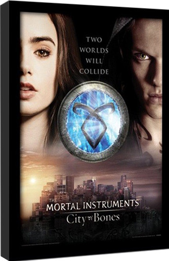 THE MORTAL INSTRUMENTS : DÆMONERNES BY – two worlds indrammet plakat