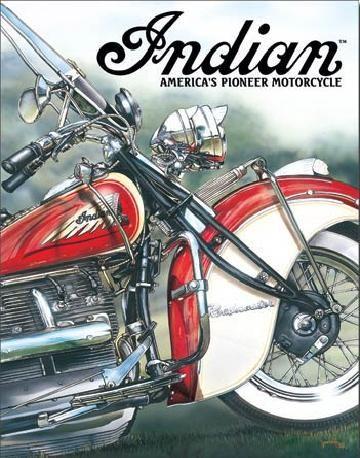 Metallschild INDIAN - americas pioneer