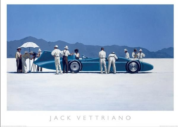Bluebird at Bonneville, 1995 Reproduction d'art