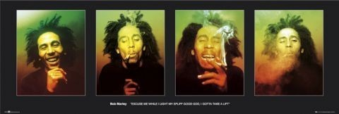 Bob Marley - faces - плакат (poster)