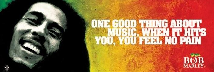 Bob Marley - music - плакат (poster)