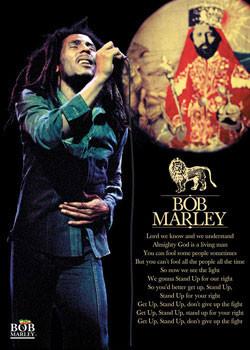 Bob Marley - selassie - плакат (poster)
