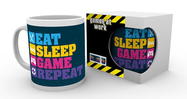 Gaming - Eat Sleep bögre