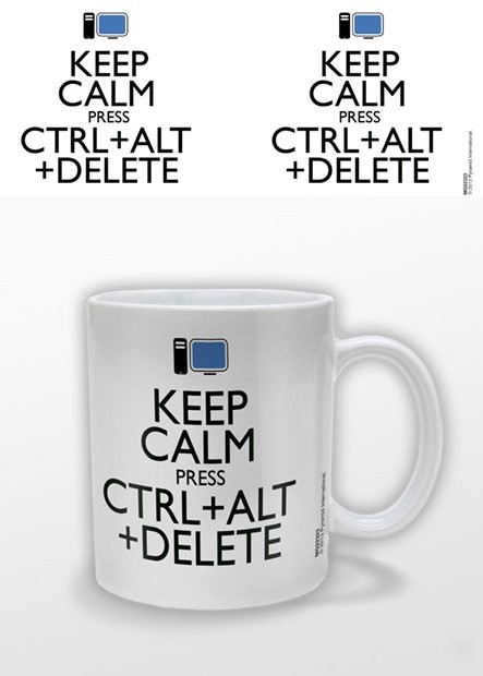 Keep Calm Press Ctrl Alt Delete bögre