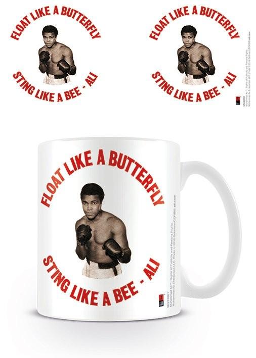 Muhammad Ali  - Float like a butterfly,sting like a bee - retro bögre