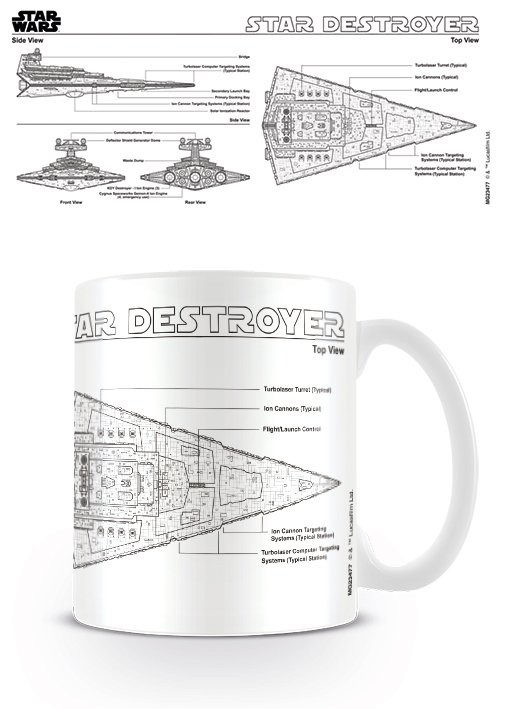 Star Wars - Star Destroyer Sketch bögre