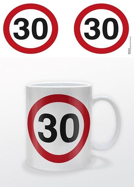 Születésnap - 30 Traffic Sign bögre